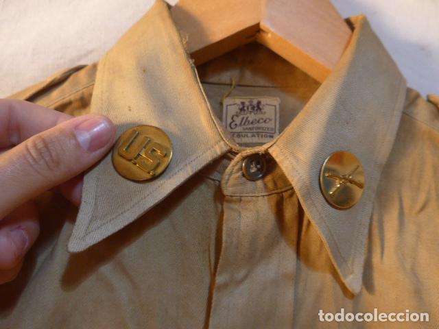 Militaria: Antigua camisa americana de oficial, original, con sus parches. Estados Unidos. II guerra o vietnam? - Foto 4 - 160731762