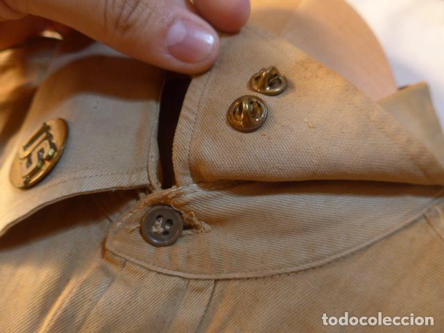 Militaria: Antigua camisa americana de oficial, original, con sus parches. Estados Unidos. II guerra o vietnam? - Foto 6 - 160731762