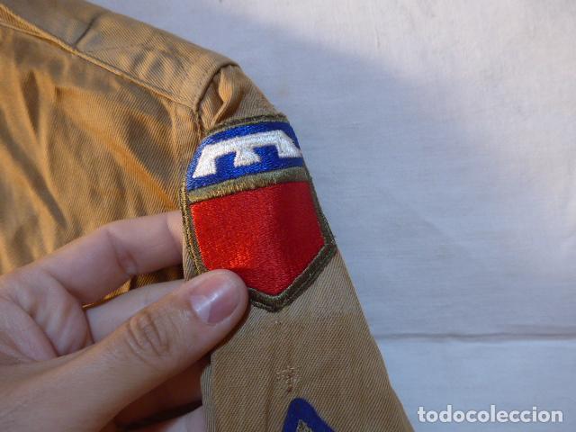 Militaria: Antigua camisa americana de oficial, original, con sus parches. Estados Unidos. II guerra o vietnam? - Foto 7 - 160731762
