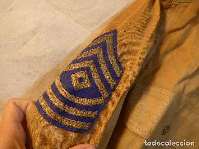 Militaria: Antigua camisa americana de oficial, original, con sus parches. Estados Unidos. II guerra o vietnam? - Foto 9 - 160731762