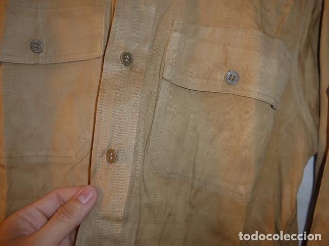 Militaria: Antigua camisa americana de oficial, original, con sus parches. Estados Unidos. II guerra o vietnam? - Foto 11 - 160731762