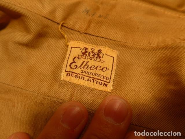 Militaria: Antigua camisa americana de oficial, original, con sus parches. Estados Unidos. II guerra o vietnam? - Foto 18 - 160731762