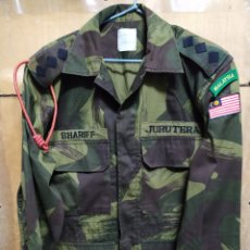Militaria: UNIFORME DE CAMUFLAJE EJÉRCITO MALAYO MUY POCO USO. Lote 162492713