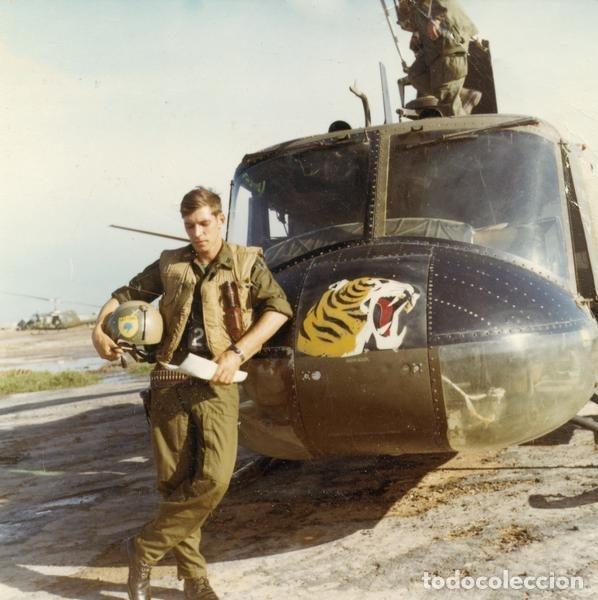 Militaria: Pantalones Piloto Tripulación Helicóptero Huey US Army Vietnam 1968 - Foto 10 - 164320250