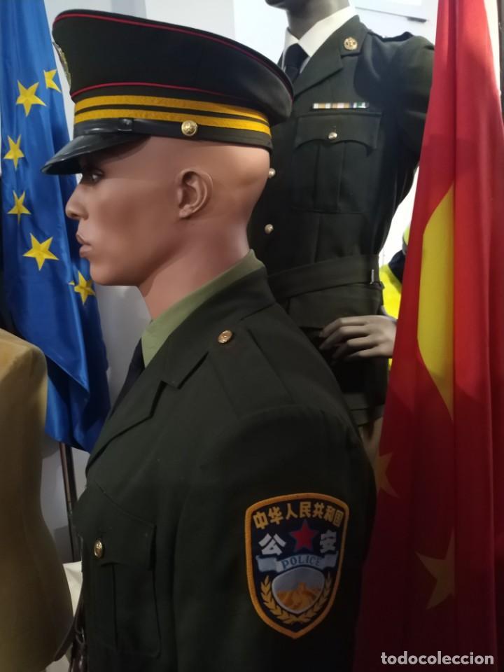 Militaria: UNIFORME POLICIA NACIONAL CHINA,CAMISA, GUERRERA, HEBILLA PANTALÓN CINTO, PARCHES, GORRA CON PLACA - Foto 2 - 170030420