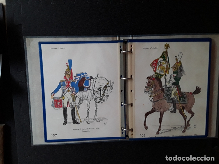 Militaria: Carpeta con ilustraciones de militares e indumentaria al uso de Italia. Uniformes militares. - Foto 2 - 172566098