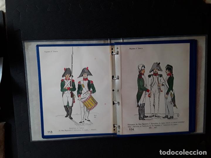 Militaria: Carpeta con ilustraciones de militares e indumentaria al uso de Italia. Uniformes militares. - Foto 3 - 172566098