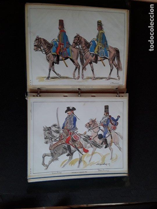 Militaria: Carpeta con ilustraciones de militares e indumentaria al uso. Uniformes de Francia. - Foto 5 - 172569749