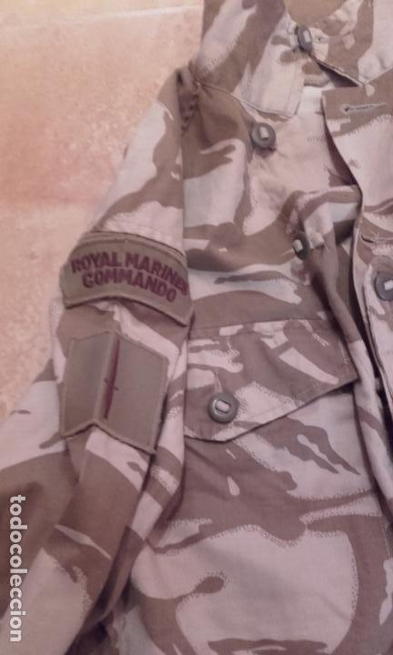 Militaria: Guerrera DPM Combat Tropical Desert Royal Marines Commando Británicos. Original. - Foto 3 - 176863484