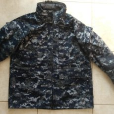 Militaria: CHAQUETON MILITAR US NAVY PARKA GORETEX CAMUFLAJE AZUL PIXELADO EJERCITO USA. Lote 179134568