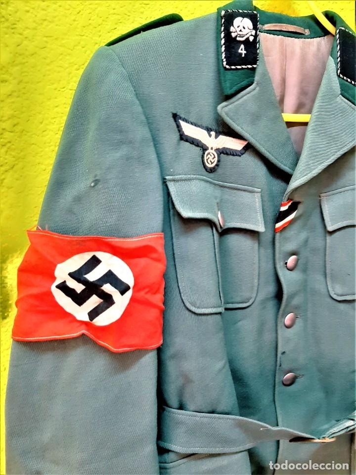 CHAQUETA Y O UNIFORME NAZI CON INSIGNIAS AGUILAS Y BANDA NAZI ORIGINAL (Militar - Uniformes Extranjeros )