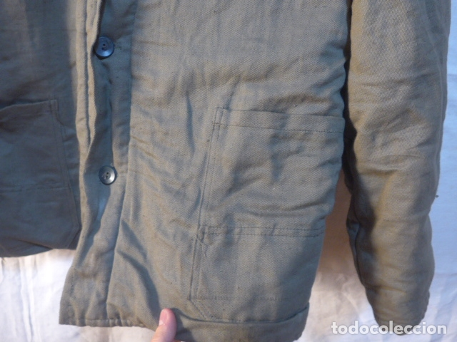 Militaria: Antigua guerrera abrigo acolchada de checoslovaquia comunista, original. - Foto 7 - 182418835