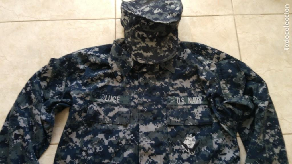 UNIFORME COMPLETO US NAVY USN PIXELADO AZUL (Militar - Uniformes Extranjeros )