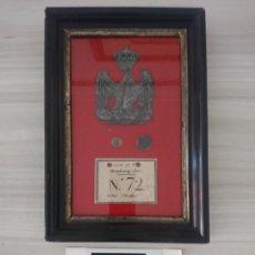 Militaria: NAPOLEON I PLACA ORIGINAL DE SHAKO DE LA JOVEN GUARDIA - GUERRA DE LA INDEPENDENCIA. Lote 184252151