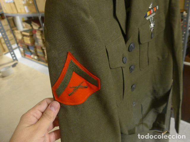 Militaria: Antigua guerrera con emblemas americana, guerra vietnam, DSA 1970, estados unidos. US navy. - Foto 6 - 185908901
