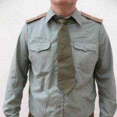 Militaria: URSS AUTENTICA CAMISA DE VERANO DE COMANDANTE DE EJERCITO SOVIÉTICO (CON CORBATA). Lote 186184348