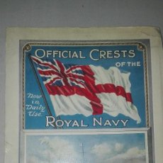 Militaria: OFICIAL CRESTS OF THE ROYAL NAVY. 1914.. Lote 186272161