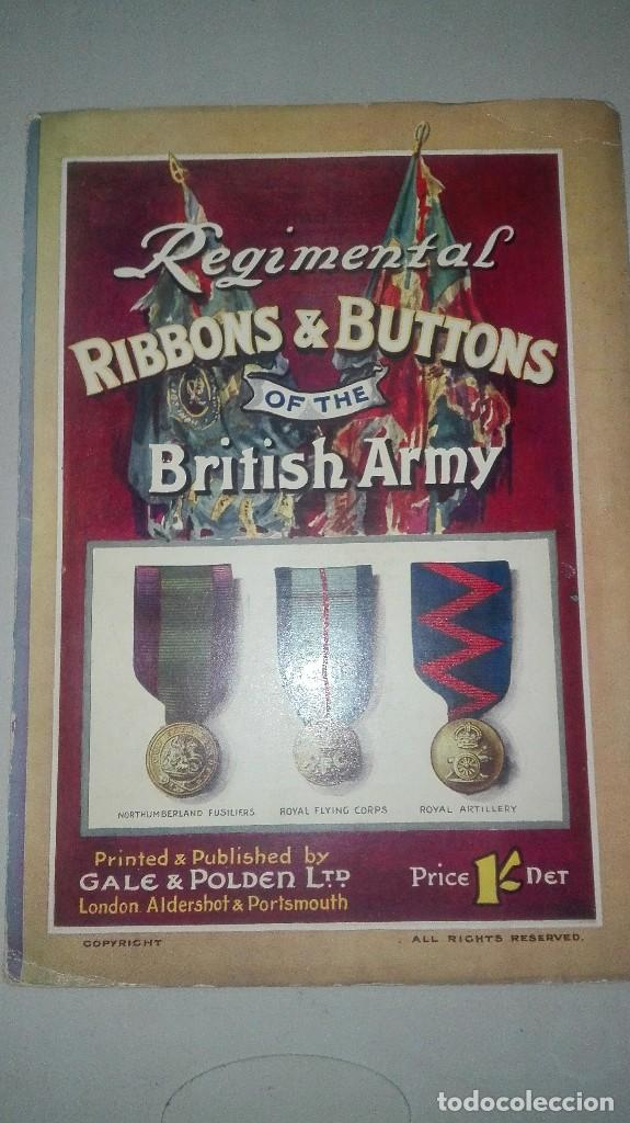 REGIMENTAL RIBBONS & BUTTONS OF THE BRITISH ARMY. 1914. (Militar - Uniformes Extranjeros )