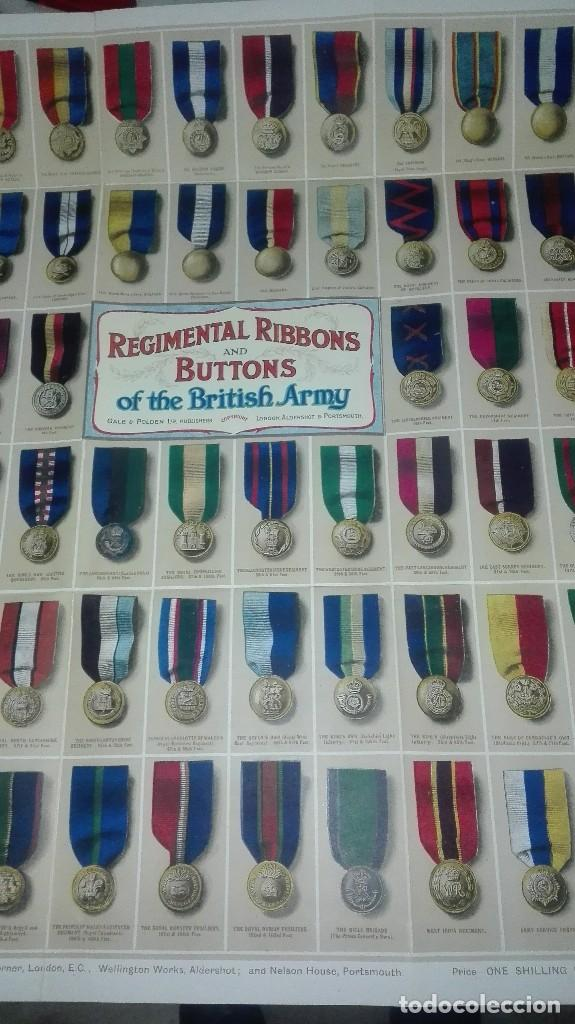 Militaria: REGIMENTAL RIBBONS & BUTTONS OF THE BRITISH ARMY. 1914. - Foto 5 - 186272875