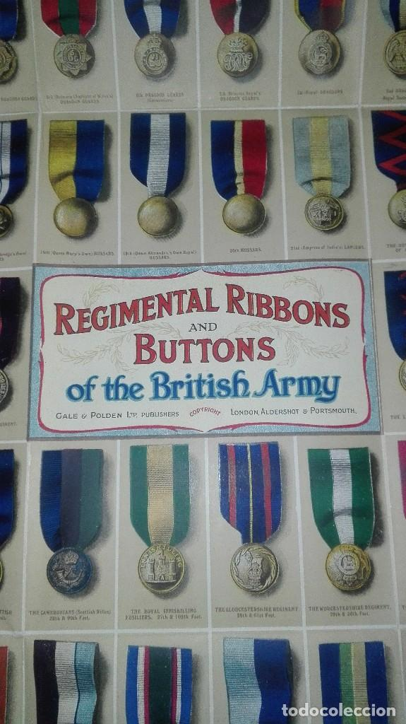 Militaria: REGIMENTAL RIBBONS & BUTTONS OF THE BRITISH ARMY. 1914. - Foto 8 - 186272875