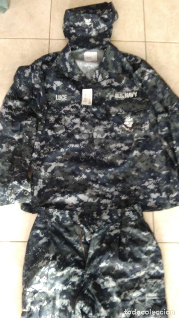 Militaria: Uniforme completo us navy usn pixelado azul - Foto 6 - 190112542