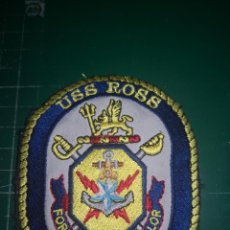 Militaria: US NAVY. PARCHE USS ROSS. ORIGINAL. Lote 190316778