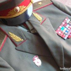 Militaria: ESPECTACULAR UNIFORME COMPLETO DE GENERAL SOVIETICO. URSS. CCCP. GUERRA FRIA. AÑOS 70.. Lote 190435568