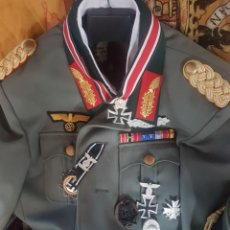Militaria: ESPECTACULAR UNIFORME DE GENERAL DEL TERCER REICH .REPLICA.EL PASADOR ES ORIGINAL. Lote 190796893