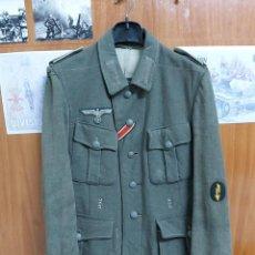 Militaria: JACKE ALEMANA WEHRMACHT M40, TOTALMENTE ORIGINAL,AGUILA Y HOMBRERAS M36, MARCAJES BORDADOS,TALLA M. Lote 191337331