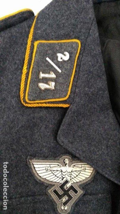 Militaria: Alemania 2ª guerra, Uniforme de DLV, chaqueta y gorra - Foto 3 - 191394422