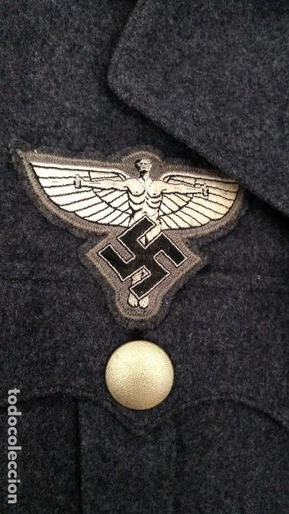 Militaria: Alemania 2ª guerra, Uniforme de DLV, chaqueta y gorra - Foto 4 - 191394422