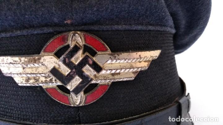 Militaria: Alemania 2ª guerra, Uniforme de DLV, chaqueta y gorra - Foto 8 - 191394422