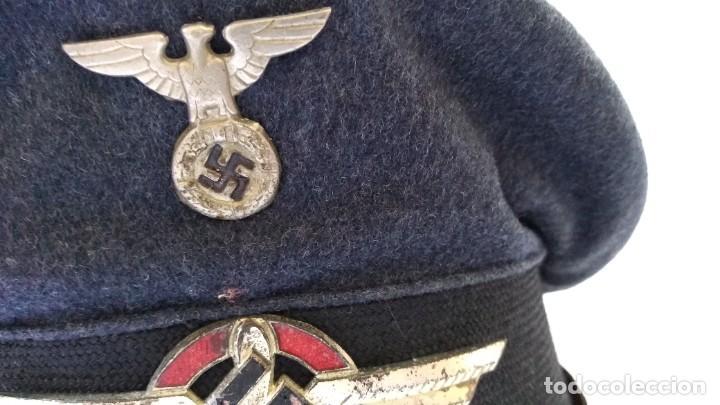 Militaria: Alemania 2ª guerra, Uniforme de DLV, chaqueta y gorra - Foto 9 - 191394422