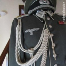 Militaria: GUERRERA Y GORRA TENIENTE ALEMÁN SEGUNDA GUERRA. Lote 191870625