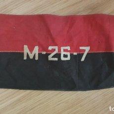 Militaria: CUBA. BRAZALETE DEL MOVIMIENTO 26 DE JULIO ORIGINAL DE EPOCA 1958 CHE GUEVARA FIDEL CASTRO. Lote 193715858