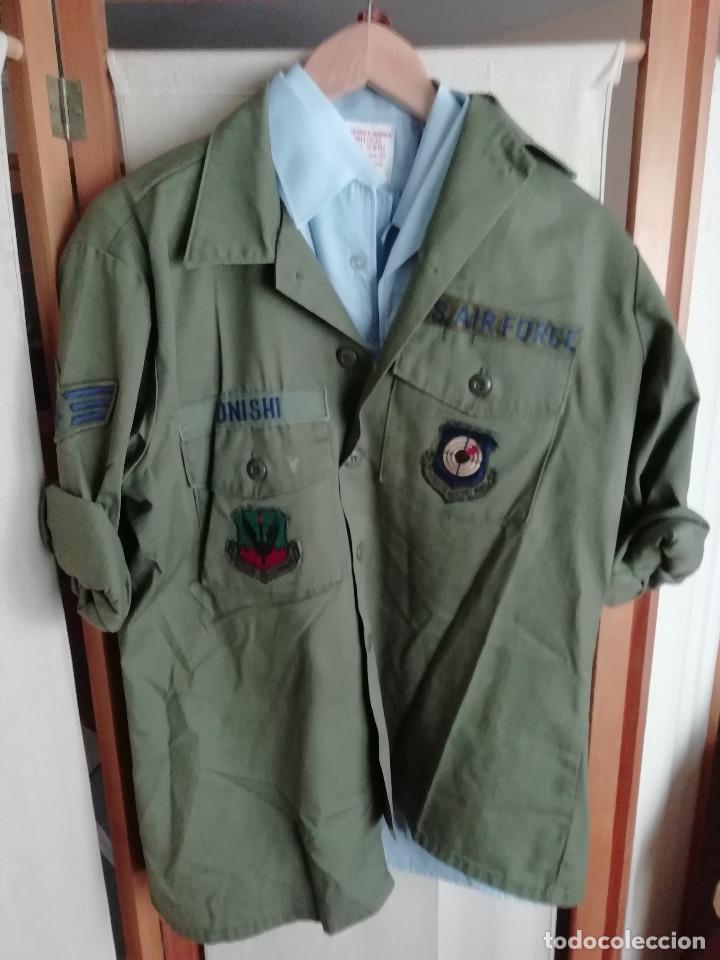 CAMISA DE FAENA HBT US AIR FORCE (FUERZA AÉREA DE ESTDOS UNIDOS) (Militar - Uniformes Extranjeros )