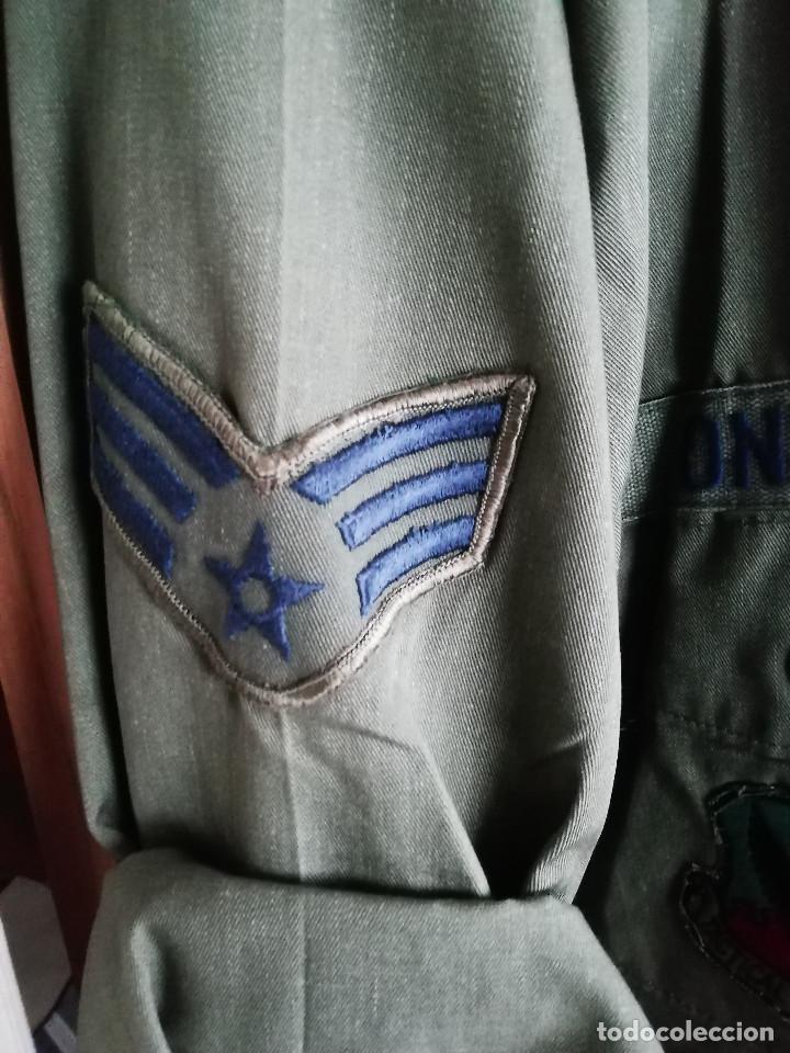 Militaria: Camisa de faena HBT US AIR FORCE (Fuerza Aérea de Estdos Unidos) - Foto 4 - 194224828