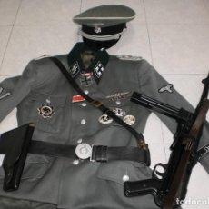 Militaria: VENDO RÈPLICA UNIFORME MILITAR OFICIAL DE LAS WAFFEN SS (SS OBERSTURMBANNFÜHRER) COMPLETO. Lote 194601623
