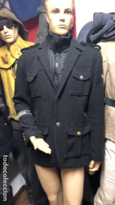 Militaria: Impresionante chaqueton aleman bundesmarine en lana Talla L europea - Foto 2 - 194755583