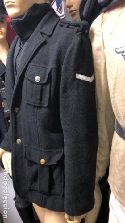 Militaria: Impresionante chaqueton aleman bundesmarine en lana Talla L europea - Foto 4 - 194755583