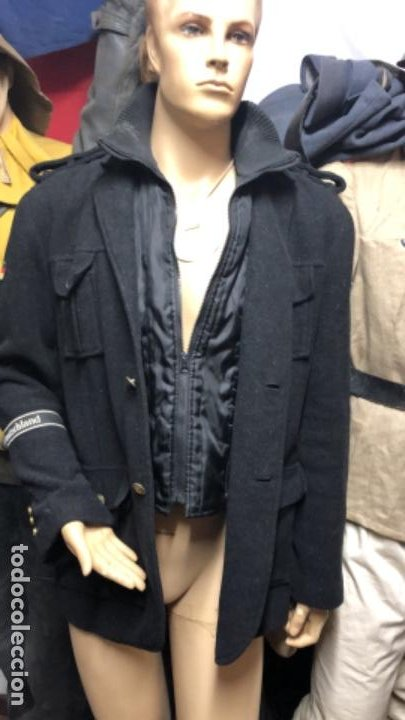 Militaria: Impresionante chaqueton aleman bundesmarine en lana Talla L europea - Foto 6 - 194755583