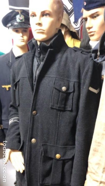 Militaria: Impresionante chaqueton aleman bundesmarine en lana Talla L europea - Foto 10 - 194755583
