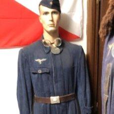 Militaria: MONO TEJANO DE MECANICO DE LA LUFTWAFFE ALEMANA TOTALMENTE ORIGINAL PERFECTO ESTADO TALLA L. Lote 194937365