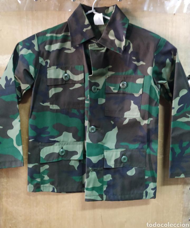 UNIFORME Y CHALECO NIÑO CAMUFLAJE BOSCOSO ORIGINAL U.S.A T4-6 NUEVO (Militar - Uniformes Extranjeros )