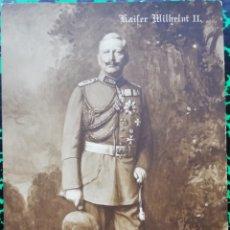 Militaria: KAISER GUILLERMO II DE ALEMANIA - RETRATO DE ESTUDIO - SIN CIRCULAR - PJRB. Lote 196658980