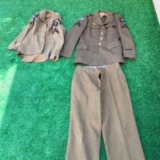 Militaria: UNIFORME SARGENTO AMERICANO ORIGINAL 1941 II GUERRA MUNDIAL MAS GUERRERA DE FAENA. Lote 197329956