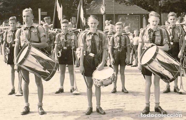 Militaria: TAMBOR,PALOS, ENGANCHE CINTO AGUILA Y BRAZALETE HITLERJUGEND,JUVENTUDES HITLERIANAS III REICH - Foto 15 - 199726401