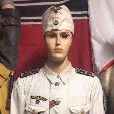 Militaria: UNIFORME COMPLETO ORIGINAL DE LA KRIEGSMARINE GUERRERA+PANTALON `+GORRILLO+GUANTES +CORDON SILBATO. Lote 206405691