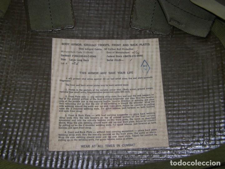 Militaria: Chaleco antifragmentación y antibalas U.S.A., con placas cerámicas de máxima protección. - Foto 6 - 206867283
