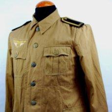 Militaria: GUERRERA-UNIFORME TROPICAL DE SERVICIO PARA UN SUBOFICIAL DE ARTILLERÍA DE COSTA DE LA KRIEGSMARINE. Lote 207397282